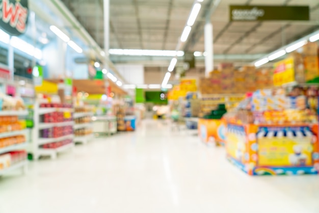 Desenfoque abstracto en supermercado Foto Premium