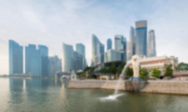 Desenfoque de fondo: hito de singapur Foto Premium
