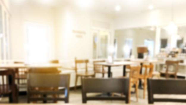 Desenfoque restaurante o postres cafetería interior tienda. Foto Premium