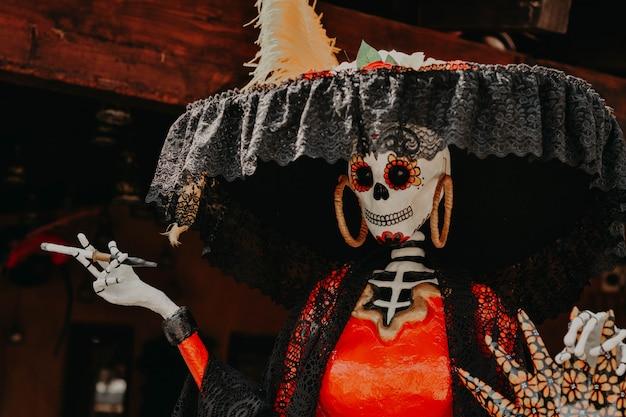 Día de muertos, decoración de catrina desde méxico Foto Premium