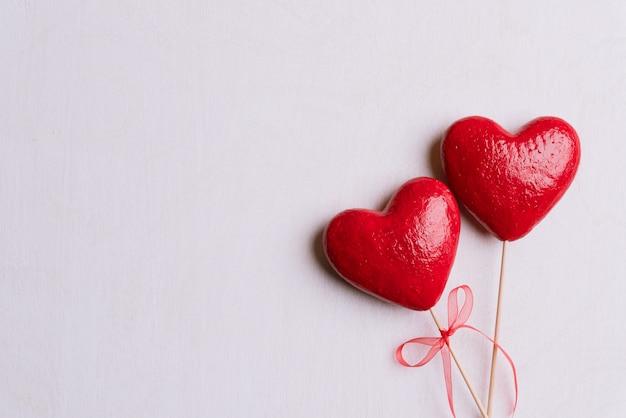 Día de san valentín y el fondo del concepto de amor. Foto Premium