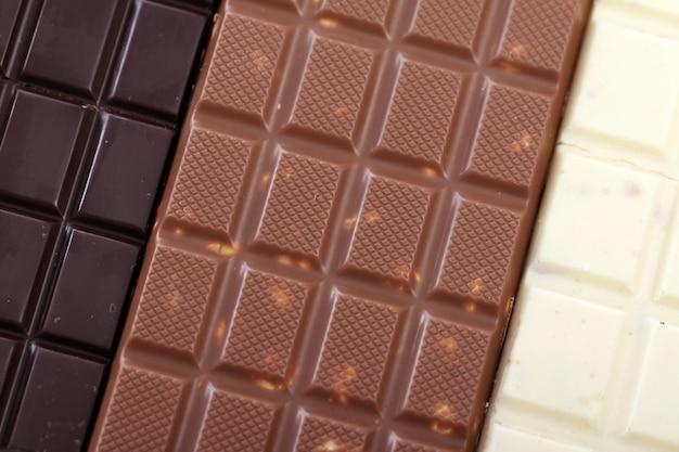 Diferentes barras de chocolate Foto gratis