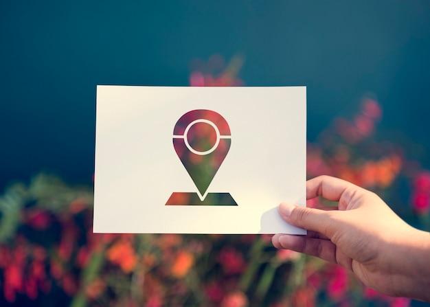 Dirección de navegación del sistema de posición global Foto gratis