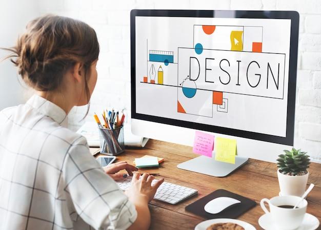 Diseñador en el trabajo Foto Premium