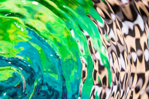 Diseño abstracto y ondas de agua planas Foto gratis