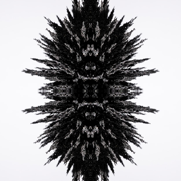 Diseño de afeitado metálico magnético caleidoscopio aislado sobre fondo blanco Foto gratis
