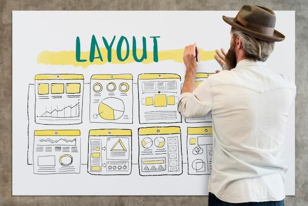 Diseño de diseño de empresario Foto gratis
