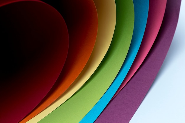 Diseño de fondo de hojas de papel de colores Foto Premium