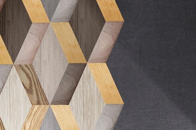 Diseño de fondo moderno de madera 3d Foto gratis