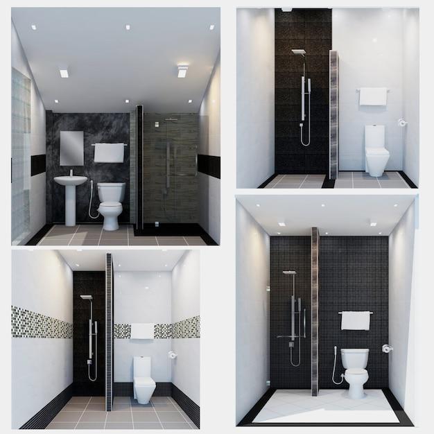 Diseño interior del cuarto de baño - estilo moderno. representación ...