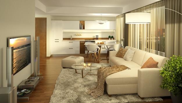 Diseño de interiores de lujo Foto Premium