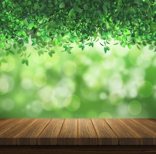 Diseño de naturaleza con efecto bokeh Foto gratis