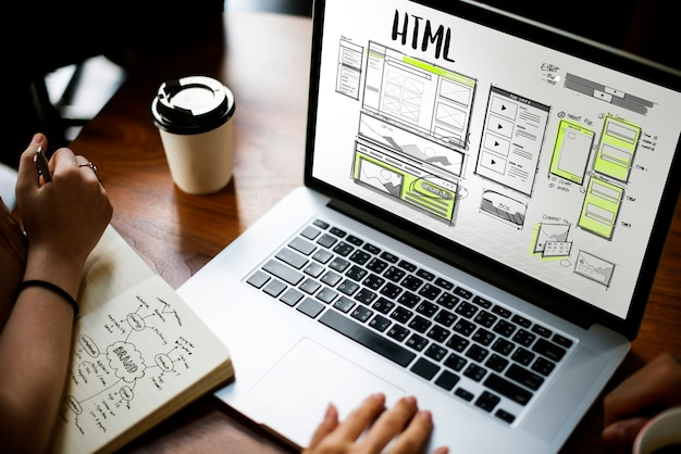 Diseño web online Foto gratis