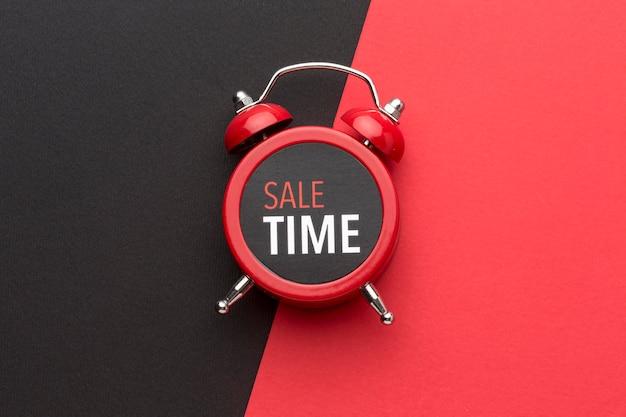Disposición del reloj de viernes negro Foto gratis