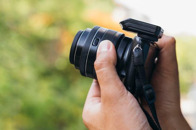 Dispositivo de cámara de vista frontal para trabajar Foto gratis