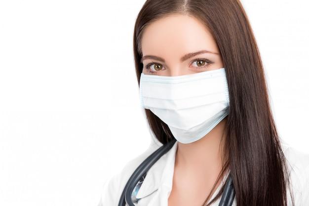 Doctor con mascarilla quirúrgica Foto Premium