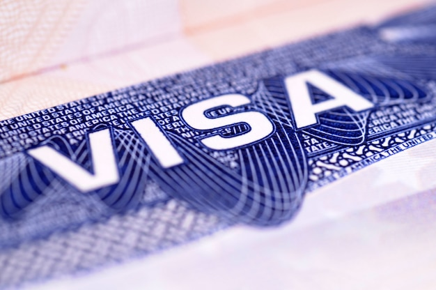 Documento visa americana Foto gratis