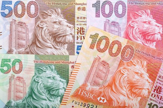 Dólar de hong kong un fondo de negocio | Foto Premium