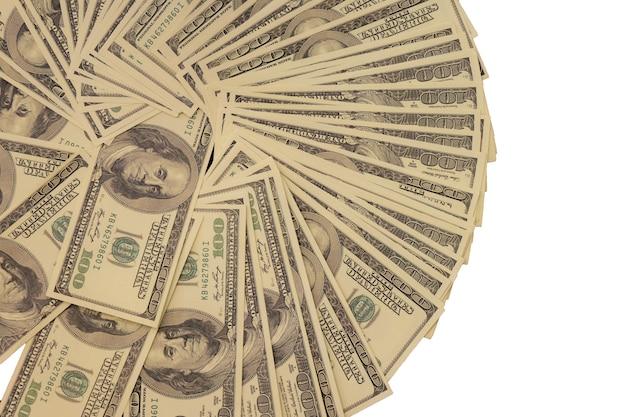 Dólares De Ee Uu Mucho Dinero Aislado En El Fondo Blanco