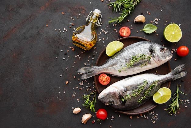 Dorada de pescado fresco Foto Premium