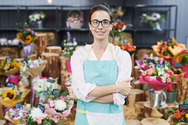 Dueño de la tienda de flores Foto Premium