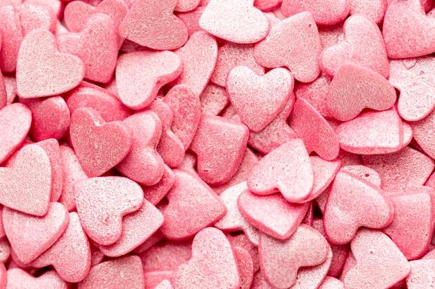 Dulces de san valentín en forma de corazón Foto gratis