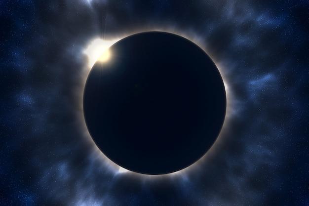 Eclipse solar total Foto Premium