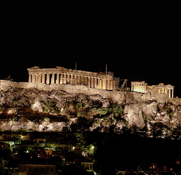 Edificio de la acrópolis Foto Premium