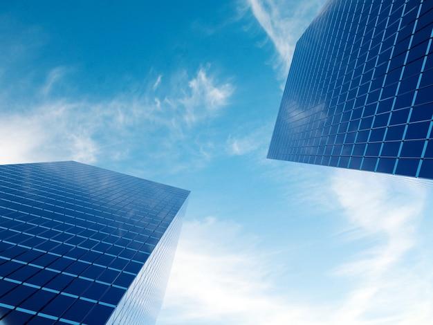 Edificio de bienes raíces financieros moderno para corporación empresarial Foto Premium