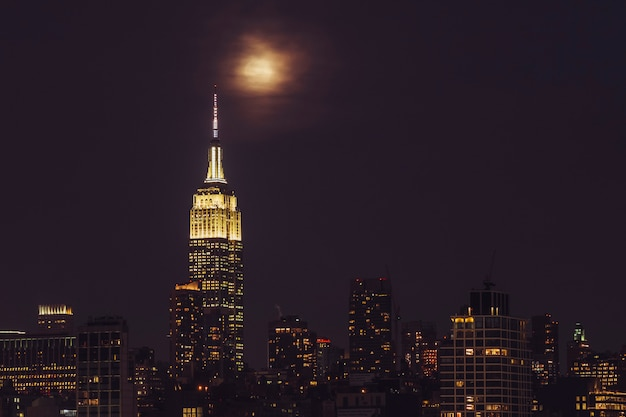 Edificio empire state en manhattan Foto Premium