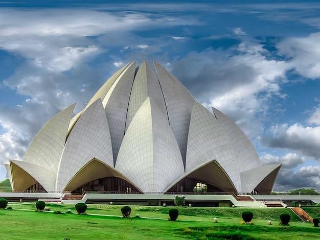 Edificio nuevo templo del loto arquitectura delhi Foto gratis
