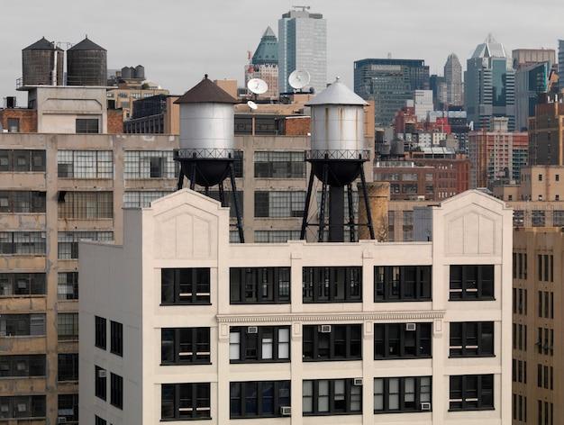 Edificios en manhattan, nueva york, estados unidos Foto Premium