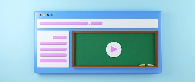 Educación digital en línea Foto Premium