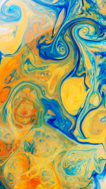 Efecto mármol de color azul-amarillo Foto Premium