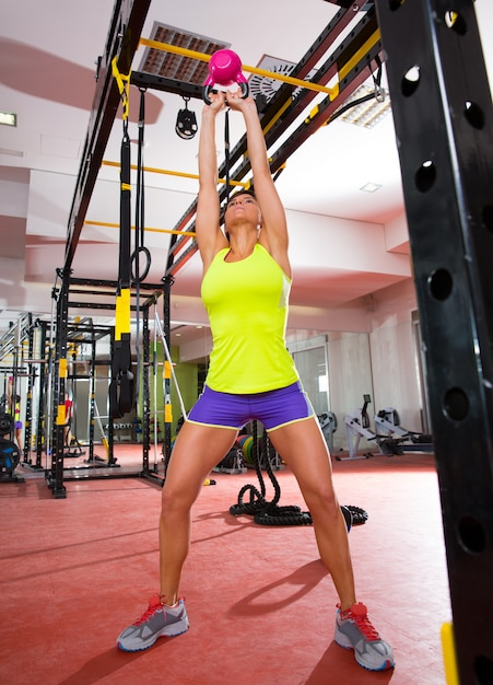 Crossfit Fitness Kettlebells Swing Exercise Personal