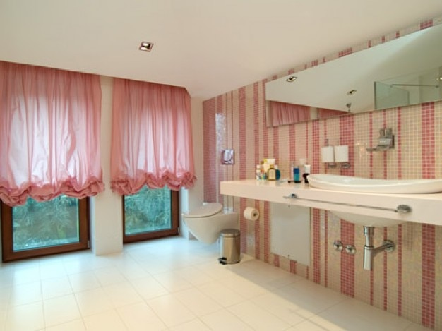 El estilo de moda ba o de color rosa material de imagen - Material de bano ...