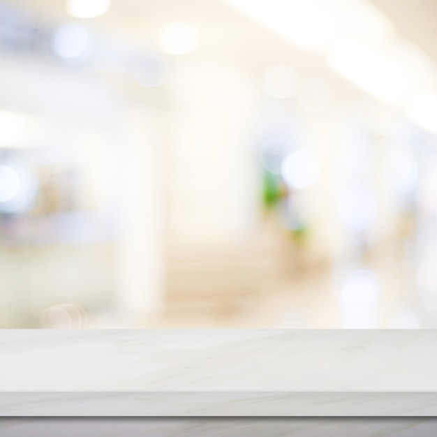 El m rmol blanco vac o sobre el fondo de la tienda de la for Marmol definicion
