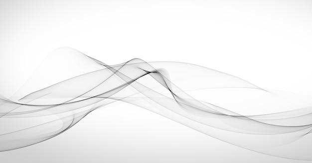Elegante fondo blanco con formas abstractas grises. Foto gratis