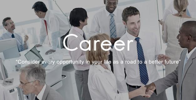 Empleo de carrera recursos humanos job occupation concept Foto gratis