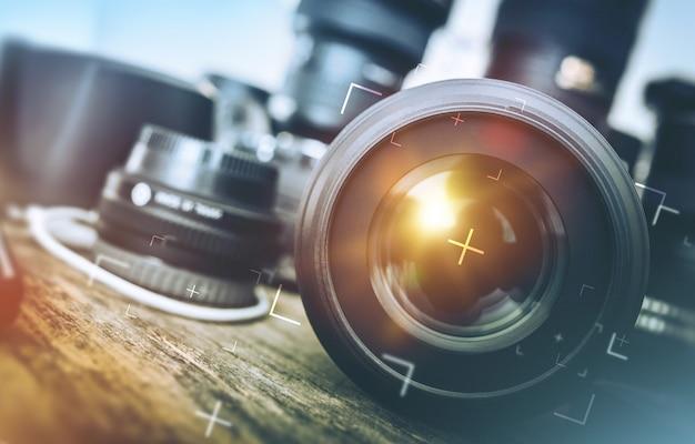 Equipo fotográfico profesional Foto gratis