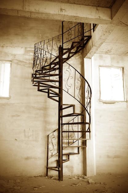 Escaleras de caracol Foto Premium