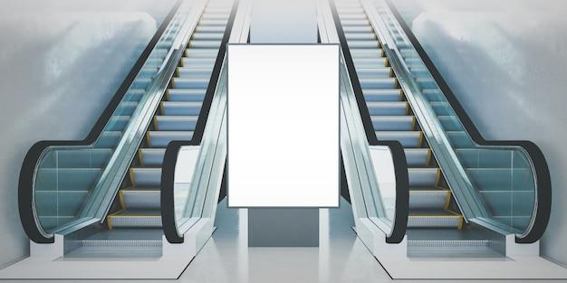 Escaleras mecánicas de la cartelera Foto Premium