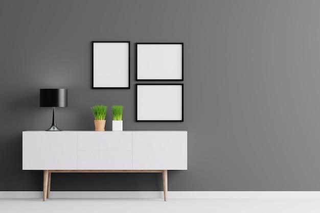 Esconda el marco de tres cuadros para el texto o la imagen del ...