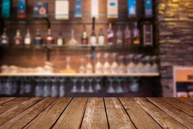 Escritorio de espacio libre en bar. Foto Premium