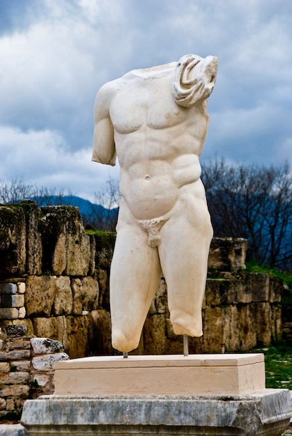 Escultura de un hombre sin brazos ni cabeza Foto gratis