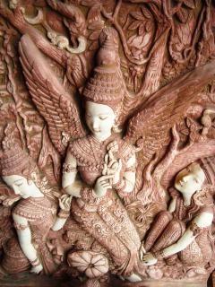 Escultura de piedra oriental Foto gratis