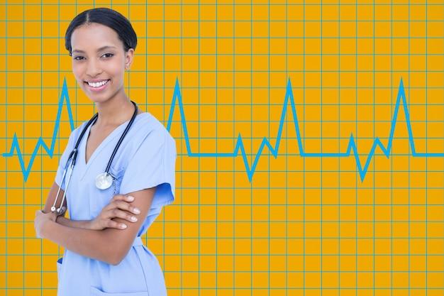 Especialista en análisis de la ciencia del hospital fondo blanco Foto gratis