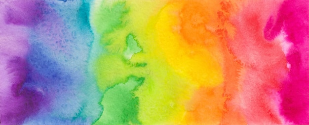 Espectro colorido acuarela. Foto Premium