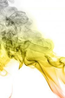 espíritu humo amarillo Foto Gratis