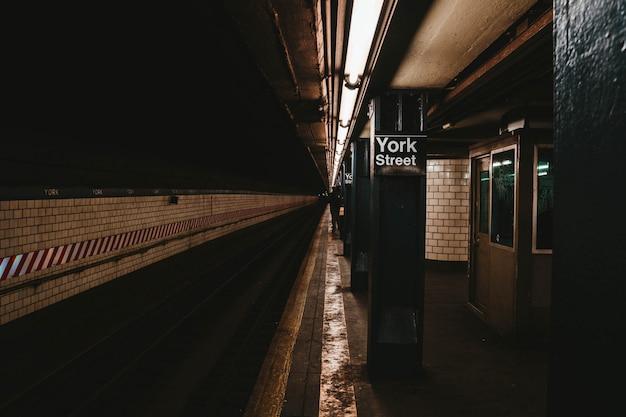 La estación de metro de nueva york Foto gratis